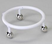 Standfuss für Kugellampe weiß-silber 20 cm