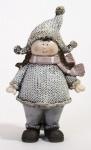 Winterkind Mädchen mit Schal und Mütze, 16 x 9 x 6, 5 cm