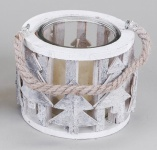 formano Windlicht aus Birkenrinde, Tannenbaum, mit Glaseinsatz, 12 cm
