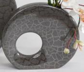 Moderne Vase Sienna 24 cm marmoriert rund