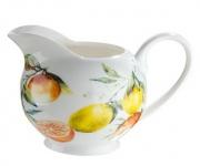 GILDE Milchkännchen aus Porzellan mit Orangen Design 250 ml