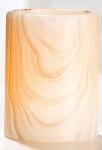 GILDE Echtwachs LED Kerze im Holzstil, 12 x 7 cm