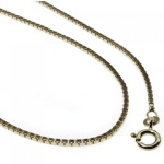 50 cm Venezianerkette - 333 Weißgold - 0, 9 mm