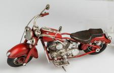 formano nostalgisches Modell Motorrad, 19 cm, rot