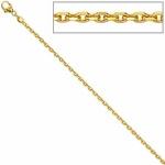 Ankerkette 333 Gelbgold diamantiert 1, 6 mm 45 cm Gold Kette Halskette