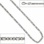 Königsarmband 925 Sterling Silber rhodiniert 19 cm Armband