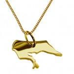 BORKUM Kettenanhänger aus 585 Gelbgold mit Halskette