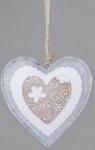 formano Dekohänger Herz in Creme Braun aus Metall, 16 cm