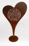 formano Deko Herz aus Metall, rostig antik, 86 cm