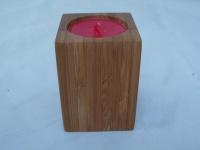 Teelichthalter aus Holz ca. 7 cm hoch