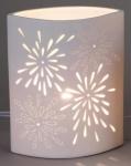 Tischlampe Aurea Blume oval 23 x 28 cm