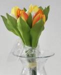 formano Kunstblume Tulpen Bündel in Gelb Orange Weiß, 9 Stück, 26 cm