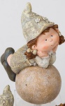 formano Gartenzwerg Jule auf einer Kugel liegend, 24 cm