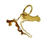 KROATIEN Kettenanhänger mit Brillant aus 585 Gold