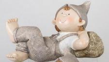 formano Gartenzwerg Norbert liegend, 45 cm creme braun