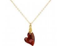 Halskette Anhänger vergoldet Herz WITH SWAROVSKI ELEMENTS®