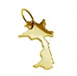 LAOS Kettenanhänger aus massiv 585 Gold