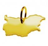 BULGARIEN Kettenanhänger aus massiv 585 Gelbgold