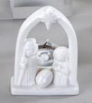 formano Teelichtleuchter Krippe in Weiß aus Porzellan, 10 cm
