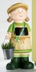 GILDE Gärtnerin Isolde mit Eimer und Kreidetafel aus Keramik, 44 cm