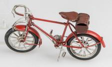 formano nostalgisches Modell Fahrrad aus Metall in Rot, 16 cm