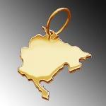 MONTENEGRO Kettenanhänger aus massiv 585 Gold