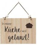 """GILDE Wandschild mit Aufschrift """" In meiner Küche..."""", 18 x 13 cm"""