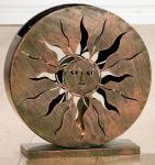 GILDE Windlicht Sole aus Metall in Kupferfarben, 37 x 39 x 13 cm