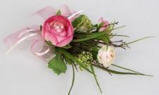 formano Frühjahrs Tischdekoration Ranunkel in Rosa, 18 cm