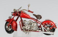 formano nostalgisches Modell Motorrad, 19 cm, Rot-Silber