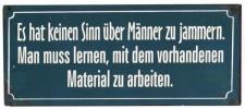 "Lafinesse Blechschild als Wandbild mit Aufschrift "" Männer..."", 30 x 13 cm"