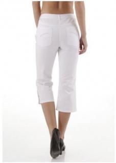 Corley Damen Capri-Jeans 3/4 Hose Shorts Stretch weiß Gr. 34 402047