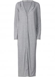 Rainbow Damen Sommer Maxi Cardigan Kleid Langarm grau meliert 938553
