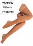 Stützstrümpfe Straps-Strümpfe Kompressionsstrümpfe Zehen offen 280DEN 22-27mmHg