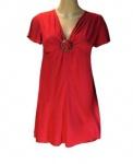 Beach Time Damen T-Shirt Shirt Bluse Tunika Top Kurzarm rot 898745