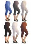 Umstand Hose Capri 3/4 Leggins Leggings Umstandsleggings blickdicht Baumwolle