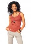Boysen´s Damen Tanktop mit Spitze Top Tank Shirt ärmellos orange Gr. 32 368554