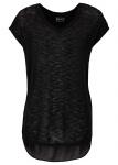 Rainbow Damen Shirt Chiffon Kurzarm Top T-Shirt Tunika schwarz Gr. 32/34 970205