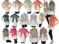 Hemd Shirt Tunika Poncho Bluse TOP 3-tlg SET Gr XS-S-M