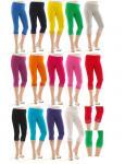 Capri 3/4 Leggings Spitze Baumwolle blickdicht Damen Sexy Hose Wäsche Legins