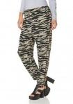 AJC Hose Haremhose weites Bein schwarz beige Schlupfhose Tiger Streifen 511621