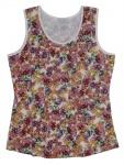 Aniston Damen Top Shirt ärmellos Blumen-Muster Print Tanktop bunt 684842
