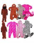Kinder Schlafanzug warm Animation Jumpsuit Overall Tiere Nachtwäsche Store-21-F