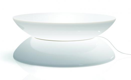 Moree Lounge Tisch / Beistelltisch, beleuchtet, Ø 84 cm, H 33 cm, mit Glaspla...