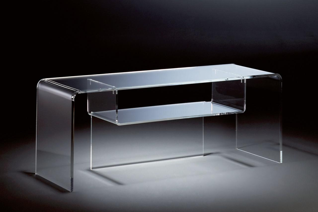 Hochwertiger acryl glas tv tisch tv rack klar 110 x