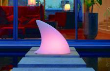 Moree Shark LED Bodenleuchte / Dekoleuchte, L 70 cm x W 19, 5 x H 65 cm, Polye...