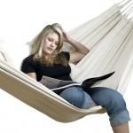 Hängematte aus Baumwolle, für 1-2 Personen, L240 x B160 cm, Belastbarkeit max...
