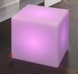 Moree Cube LED Akku Leuchtwürfel / Sitzwürfel, beleuchtet, B 44, L 44, H 45 c...