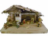 """Weihnachtskrippe / Stall """" Tirol"""", aus Holz handgefertigt in Deutschland, deko..."""