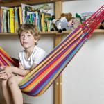 Kinder-Hängematte aus Baumwolle, für 1 Person, L145 x B120 cm, Belastbarkeit ...